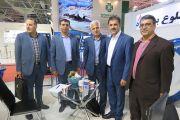 بازدید مسئولین آب و فاضلاب و آب منطقه ای یزد از غرفه آبرسان طلوع بهاررود