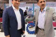 بازدید مسئولین آب و فاضلاب استان تهران از غرفه شرکت آبرسان طلوع بهاررود